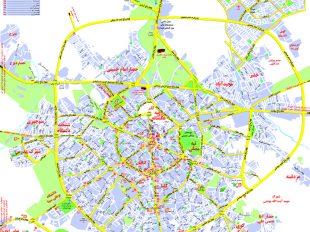 نقشه شهر همدان برای گردشگران و مسافرین
